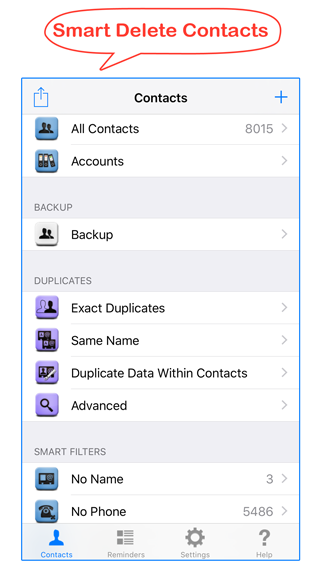 manage iphone contacts image
